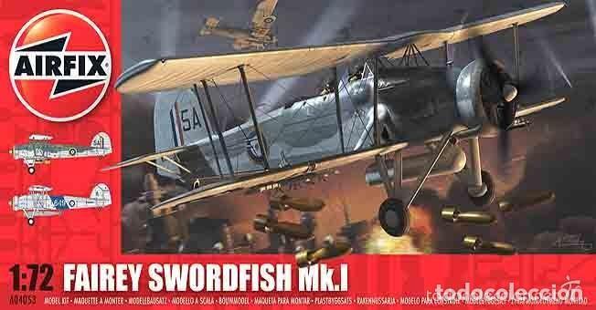 MAQUETA 1/72 - FAIREY SWORDFISH MK.I AIRFIX - NR. A04053 - 1:72 (Juguetes - Modelismo y Radio Control - Maquetas - Aviones y Helicópteros)