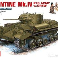 Maquetas: MAQUETA 1/35 - VALENTINE MK.IV RED ARMY W/CREW MINIART - NR. 35092 - 1:35. Lote 122928479