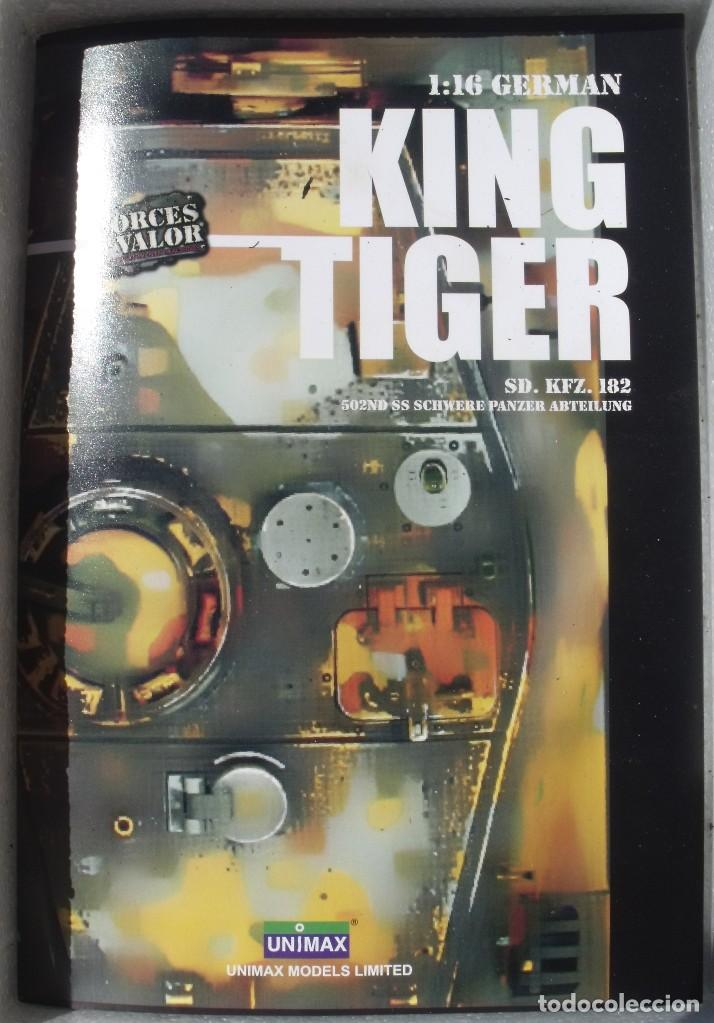 Maquetas: UNIMAX FORCE OF VALOR KING TIGER ESCALA 1/16 SD.KFZ. 182. 502 SS SCHWERE PANZER ABTEILUNG - 1:16 - Foto 35 - 125401627