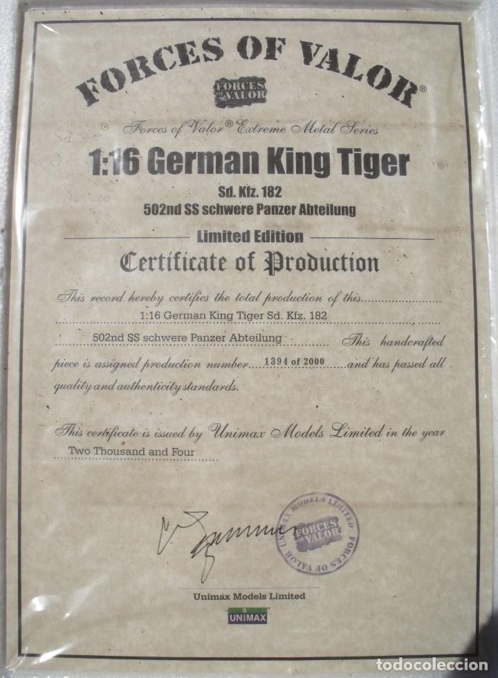 Maquetas: UNIMAX FORCE OF VALOR KING TIGER ESCALA 1/16 SD.KFZ. 182. 502 SS SCHWERE PANZER ABTEILUNG - 1:16 - Foto 36 - 125401627