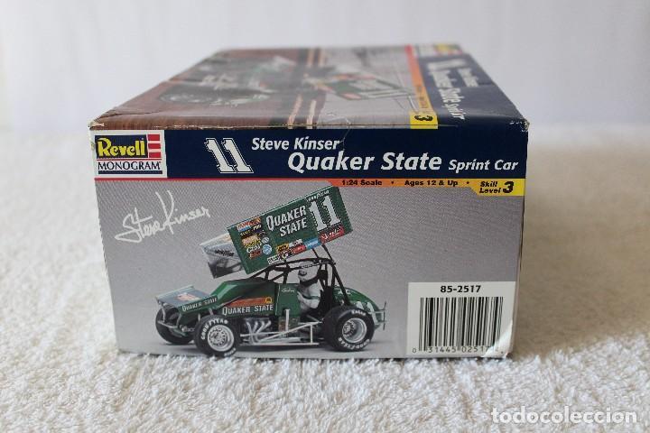 Maquetas: REVELL MONOGRAM. ESCALA 1/24 - QUAKER STATE SPRINT CAR, 11 STEVE KINSER - MADE IN USA 1998, - Foto 7 - 125441835