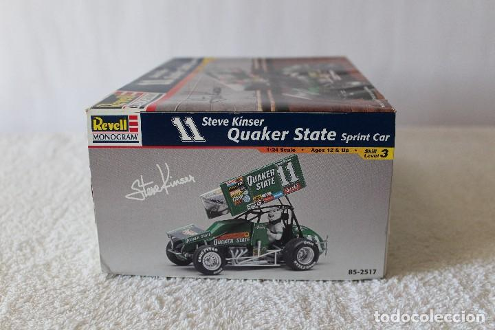 Maquetas: REVELL MONOGRAM. ESCALA 1/24 - QUAKER STATE SPRINT CAR, 11 STEVE KINSER - MADE IN USA 1998, - Foto 9 - 125441835