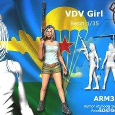Maquetas: WWII 1/35 SOVIET VDV GIRL 1 FIGURA RESINA A-170. Lote 126062987