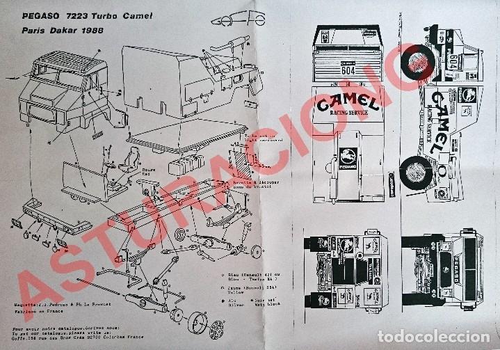 Maquetas: GAFFE KIT CAMION PEGASO 7223 TURBO PROTO CAMEL RALLYE PARIS DAKAR 1991 / OBSOLETO - Foto 2 - 92163705