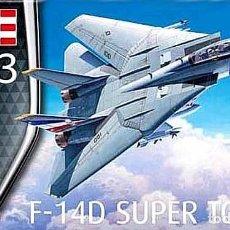Maquetas: MAQUETA DEL CAZABOMBARDERO GRUMMAN F-14D SUPER TOMCAT DE REVELL A ESCALA 1/100. Lote 126641087