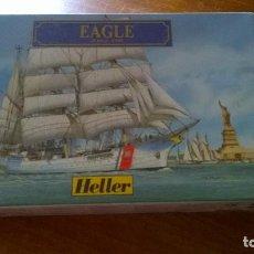 Maquetas: MAQUETA BARCO EAGLE 1/600. MARCA HELLER. Lote 127141759