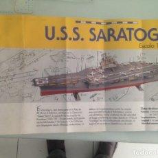 Maquetas: 1/72, USS SARATOGA, CV-60, PORTAAVIONES USA. Lote 173572567