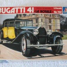Maquetas: ITALERI ESCALA 1/24 - BUGATTI 4I LA ROYALE - MADE IN ITALY 1980. Lote 127665787