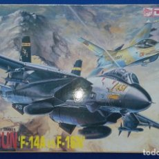 Maquetas: TOP GUN F-14A VS F-16N ESCALA 1:144 DE DRAGON. . Lote 127976811