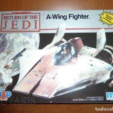 Maquetas: STAR WARS EL RETORNO DEL JEDI - MODELO A ESCALA DE A-WING FIGHTER MPC ERTL (1990). Lote 128270443