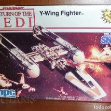 Maquetas: STAR WARS EL RETORNO DEL JEDI - MODELO A ESCALA DE Y-WING FIGHTER MPC ERTL (1990). Lote 128272987