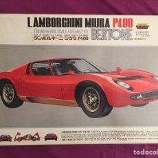 Maquetas: LAMBORGHINI MIURA P400 BERTONE ( MOTORIZADO ) 1:16 OTAKI OT3-15 MAQUETA COCHE CON MOTOR. Lote 128653916