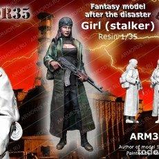 Maquetas: WWII 1/35 FIGURA RESINA GIRL STALKER FANTASY MODEL A-174. Lote 128707551