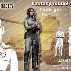 Maquetas: WWII 1/35 FIGURA RESINA TANK GIRL SOVIET FANTASY MODEL A-175. Lote 128707607