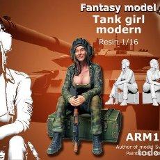 Maquetas: WWII 1/35 FIGURA RESINA TANK GIRL MODERN FANTASY MODEL A-28. Lote 128738935