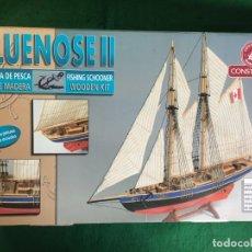 Maquetas: MAQUETA GOLETA DE PESCA BLUENOSE II DE CONSTRUCTO. Lote 130182759