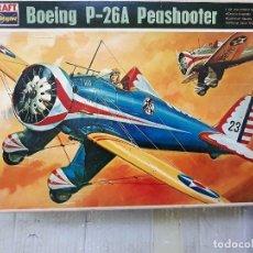 Maquetas: MAQUETA AVION BOEING P26 A PEASHOOTER W 1/32 EN PERFECTO ESTADO NUEVO A ESTRENAR . Lote 130988416