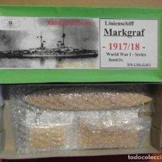 Maquetas: HP MODELS G-013 BATTLESHIP MARKGRAF 1917-1918 1/700 (KIT DE RESINA). Lote 131272999