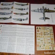 Maquetas: ILUSTRACION MOD. AVIONES P-51 MUSTANG 55 - P47 THUNDERBOLT DE LA CASA E.S.C.I. DE MAQUETAS.. Lote 132413182