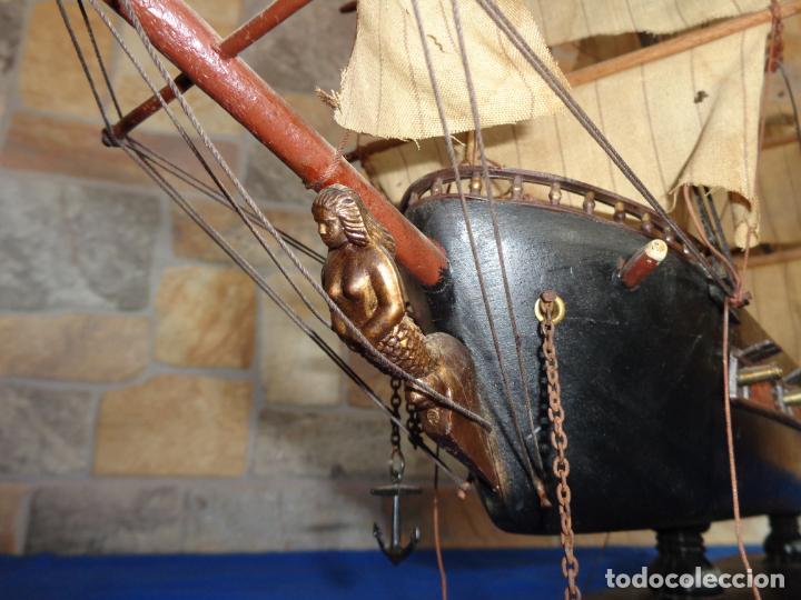 Maquetas: MAQUETA BARCO DE MADERA FRAGATA ESPAÑOLA SIGLO XVI VER FOTOS Y DESCRIPCION! SM - Foto 24 - 133588778