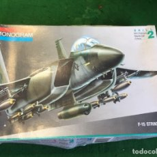 Maquetas: MAQUETA DE AVION F-15 STRIKE EAGLE DE MONOGRAM 1:72. Lote 203615101