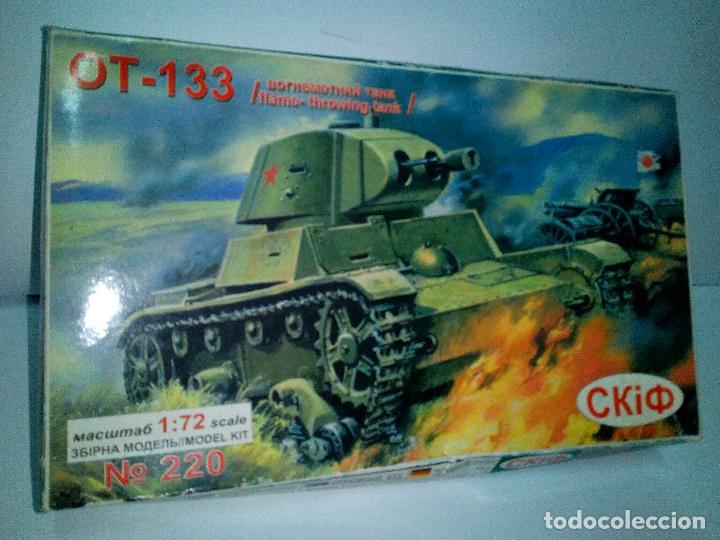 -CARRO DE COMBATE OT -133-LANZALLAMAS-CON FOTOGRABADOS -1/72- RUSO (Juguetes - Modelismo y Radiocontrol - Maquetas - Militar)