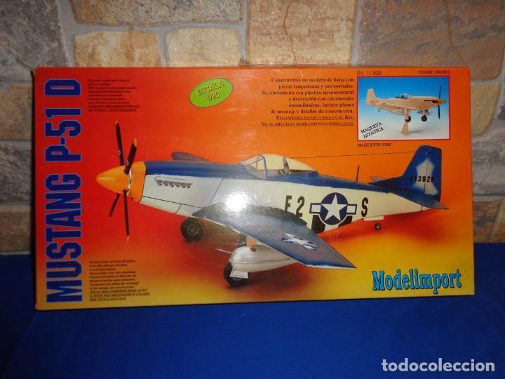 MAQUETA - MUSTANG P-51 D ESCALA 1/20 MAQUETA ESTATICA MODELIMPORT VER FOTOS Y DESCRIPCION! SM (Juguetes - Modelismo y Radio Control - Maquetas - Aviones y Helicópteros)