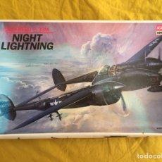 Maquetas: LOCKHEED P-38 M NIGHT LIGHTNING 1:48 ACADEMY 2145 MAQUETA AVIÓN CAZA NOCTURNO. Lote 133993554