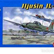 Maquetas: MAQUETA DEL CAZACARROS SOVIÉTICO ILYUSHIN IL-2 SHTURMOVIK DE SMER A ESCALA 1/72. Lote 134002510