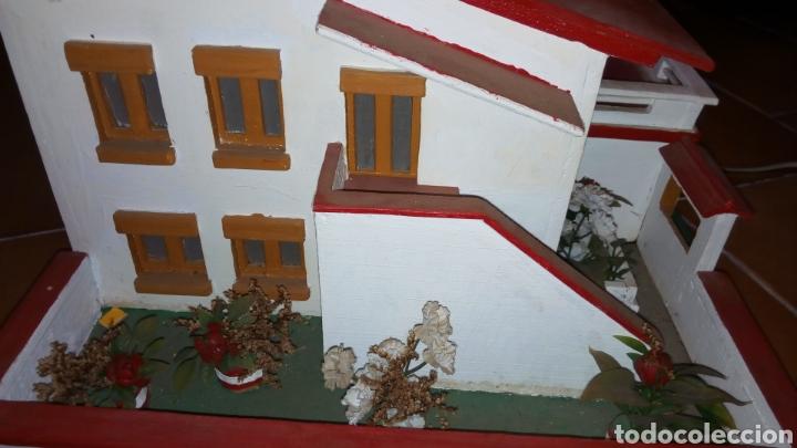 Maquetas: ANTIGUA MAQUETA AÑOS 70 CHALET.CASA MADERA. CON LUZ. CONSTRUCCIÓN. ARQUITECTURA - Foto 8 - 134261785