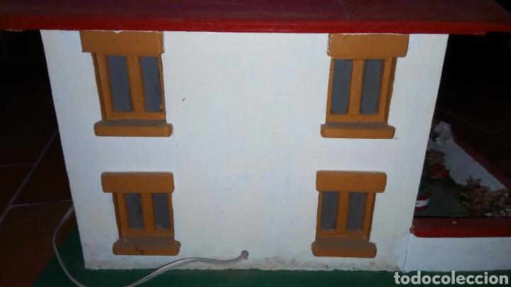 Maquetas: ANTIGUA MAQUETA AÑOS 70 CHALET.CASA MADERA. CON LUZ. CONSTRUCCIÓN. ARQUITECTURA - Foto 9 - 134261785