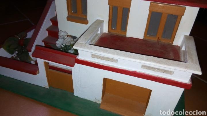 Maquetas: ANTIGUA MAQUETA AÑOS 70 CHALET.CASA MADERA. CON LUZ. CONSTRUCCIÓN. ARQUITECTURA - Foto 10 - 134261785