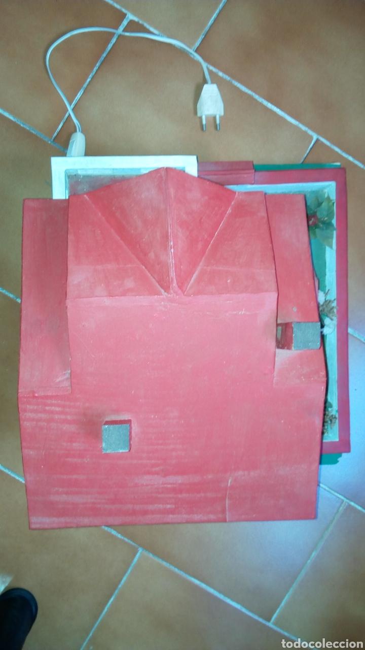 Maquetas: ANTIGUA MAQUETA AÑOS 70 CHALET.CASA MADERA. CON LUZ. CONSTRUCCIÓN. ARQUITECTURA - Foto 11 - 134261785