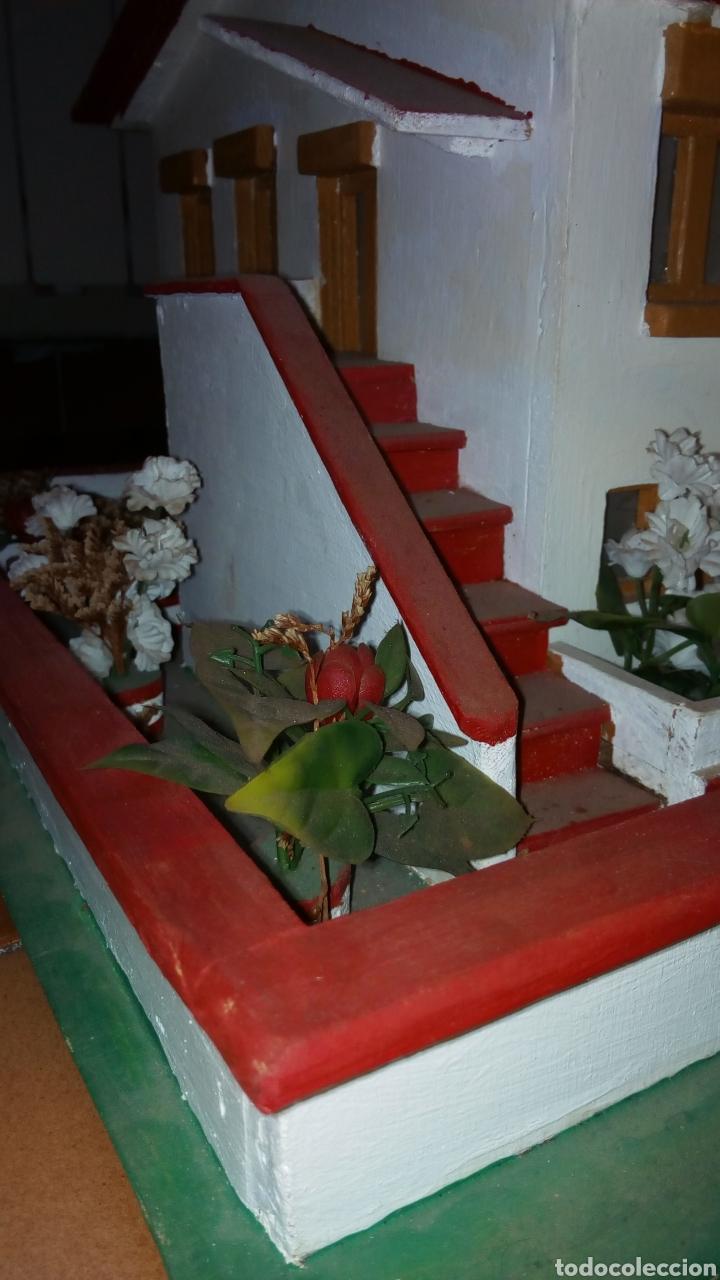 Maquetas: ANTIGUA MAQUETA AÑOS 70 CHALET.CASA MADERA. CON LUZ. CONSTRUCCIÓN. ARQUITECTURA - Foto 12 - 134261785