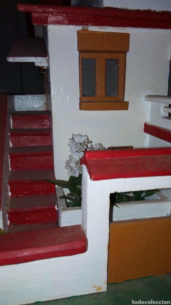 Maquetas: ANTIGUA MAQUETA AÑOS 70 CHALET.CASA MADERA. CON LUZ. CONSTRUCCIÓN. ARQUITECTURA - Foto 13 - 134261785