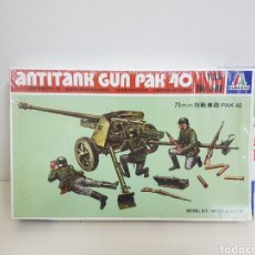 Maquetas: ANTI TANK GUN PACK 40 ITALERI 75 MM NÚMERO 318 ESCALA 1/35. Lote 136034716