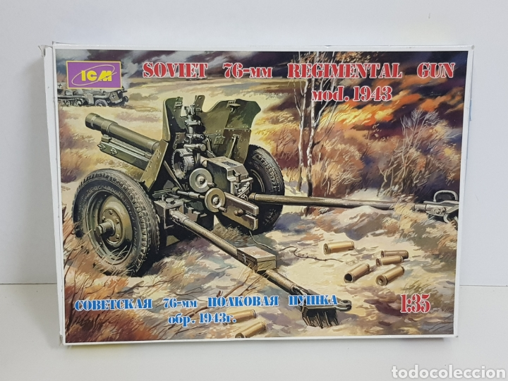 Maquetas: Soviet 76mm regimental gun modelo 1943 a escala 1/35 15 m - Foto 2 - 136039150