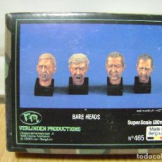 Maquetas: CAJA VERLINDEN PRODUCTIONS , BARE HEADS , SCALE 120MM.. Lote 136522762