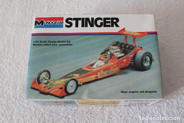 MONOGRAM  ESCALA 1/24 - STINGER REAR ENGINE RAIL DRAGSTER - MADE IN USA  1995