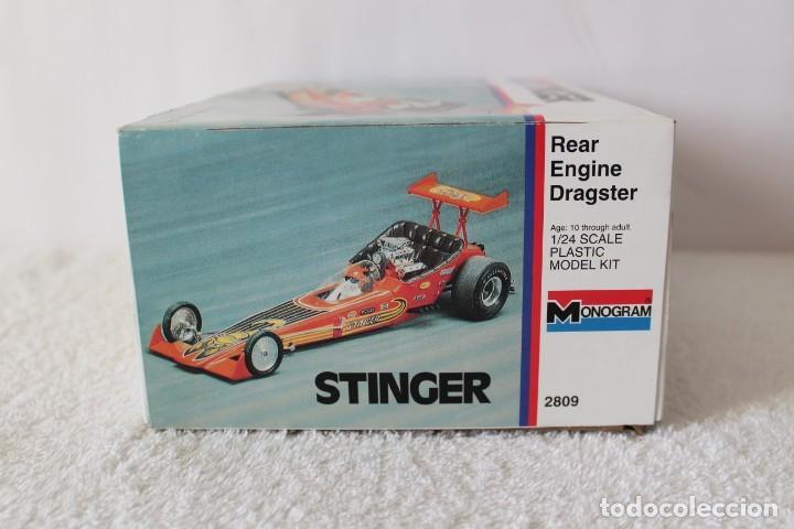 Maquetas: MONOGRAM. ESCALA 1/24 - STINGER REAR ENGINE RAIL DRAGSTER - MADE IN USA 1995. - Foto 7 - 136733822