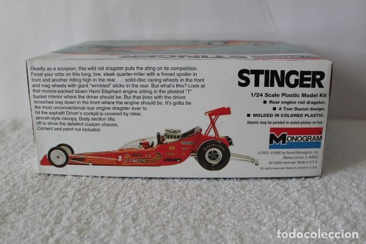 Maquetas: MONOGRAM. ESCALA 1/24 - STINGER REAR ENGINE RAIL DRAGSTER - MADE IN USA 1995. - Foto 8 - 136733822