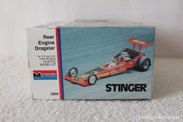 Maquetas: MONOGRAM. ESCALA 1/24 - STINGER REAR ENGINE RAIL DRAGSTER - MADE IN USA 1995. - Foto 9 - 136733822