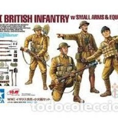 Maquetas: TAMIYA - WWI BRITISH INFANTRY W/SMAL ARMS & EQUIPMENT 32409 1/35. Lote 137173834