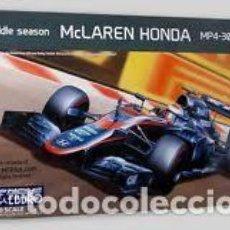 Maquetas: EBBRO - MCLAREN HONDA MIDDLE SEASON MP4-30 2015 1/20 014-4800. Lote 137215274