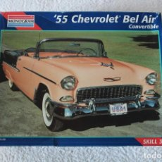 Maquetas: REVELL MONOGRAM ESCALA 1/25 - 55 CHEVROLET BEL AIR CONVERTIBLE (REF 2462) - MADE IN USA 1995. Lote 137618850