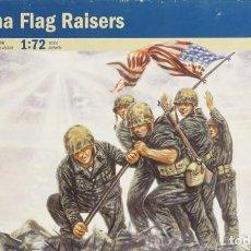 Maquetas: MAQUETA FIGURAS INFANTERÍA USA – IWO JIMA FLAG RAISERS, REF. 6098, 1/72, ITALERI. Lote 140803672