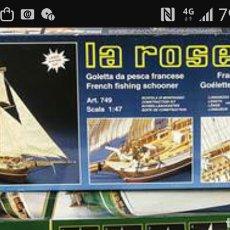 Maquetas: KIT GOLETA DE PESCA LA ROSE .MANTUA.ENVIO INCLUIDO. Lote 138614466