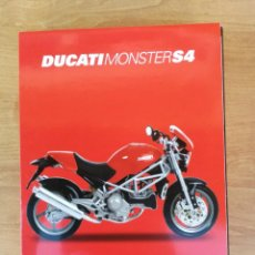 Maquetas: MAQUETA MOTO MOTOCICLETA DUCATI MONSTER S4 MARCA NEW RAY ESCALA 1:12. Lote 138630294