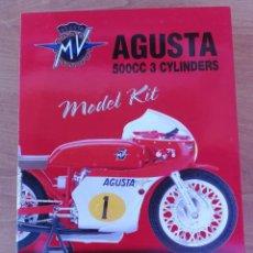 Maquetas: MAQUETA MOTO MOTOCICLETA MV AUGUSTA 500CC 3 CILINDROS MARCA NEW RAY ESCALA 1:12. Lote 138630594