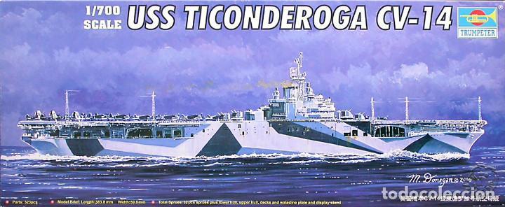 MAQUETA TRUMPETER 1/700 USS TICONDEROGA CV-14 #05736 (Juguetes - Modelismo y Radiocontrol - Maquetas - Barcos)